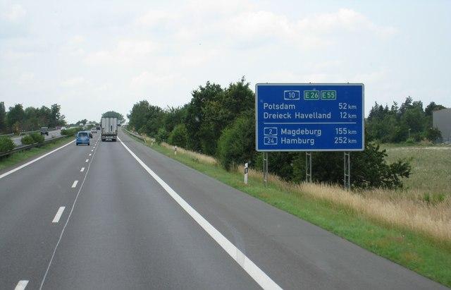 A10 Berliner Ring sdlich von KleinZiethen MGRS