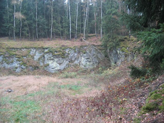 Mammersreuth aufgelassener Steinbruch Lederschiefer