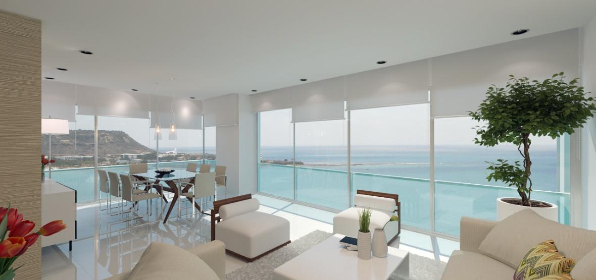 Bay View Apartments En la playa de Chipipe Salinas