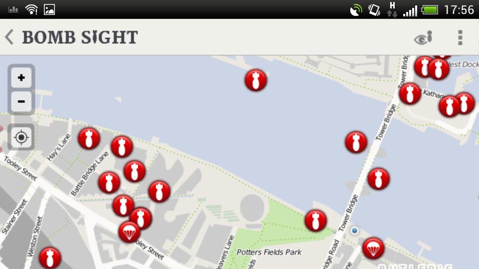 Screenshot of the map