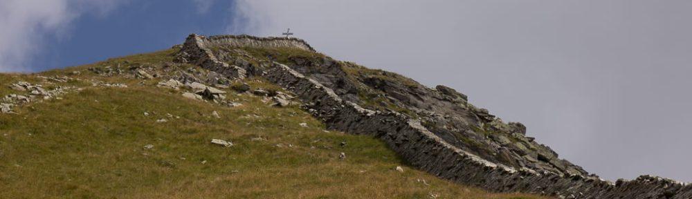 Die Mauer auf den Gipfel