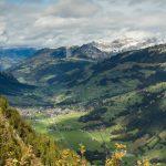 Die Aussicht vom Oberlaubhore