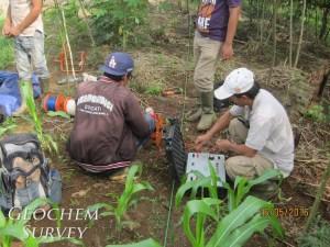 Konsultan jasa Survey geolistrik resistivity dipol dipol andesit