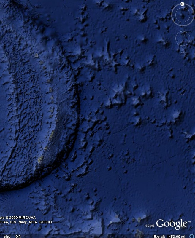 Mariana Trench, the deepest part of the oceans