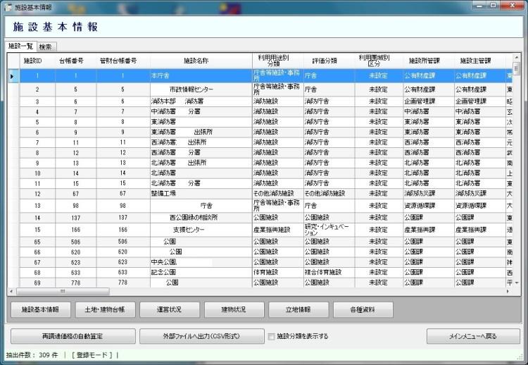 施設情報の管理
