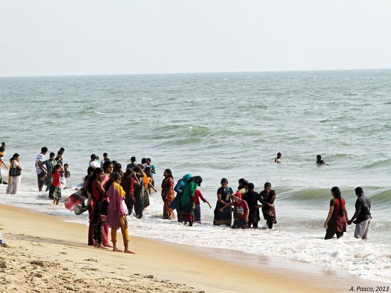 Un dimanche au bord de la mer au Kérala