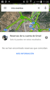 My events Google Maps