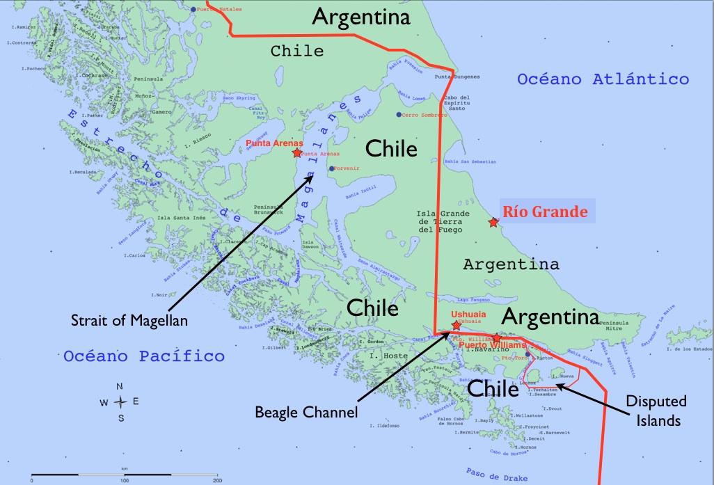 Image result for map tierra del fuego