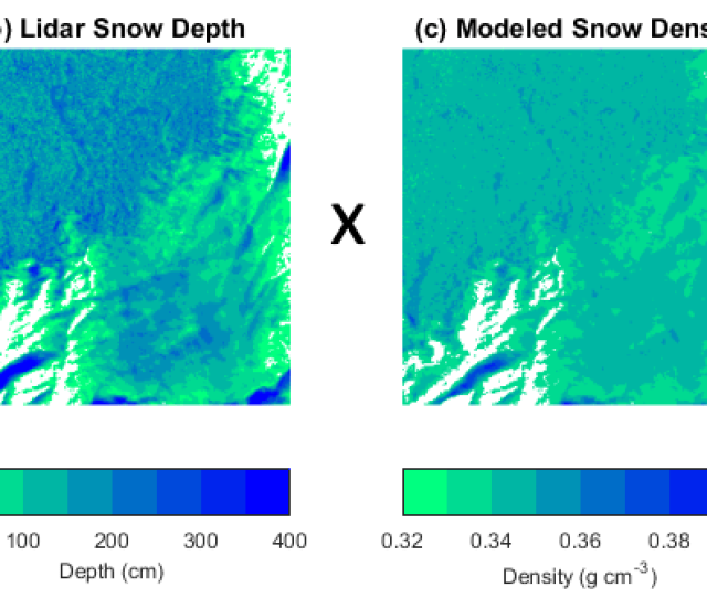 A Aerial Imagery And Elevation Contours B Lidar Measured Snow Depth At 1