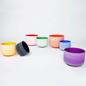Frosted Rainbow Singing Bowls
