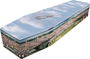 Tennis Theme Coffin