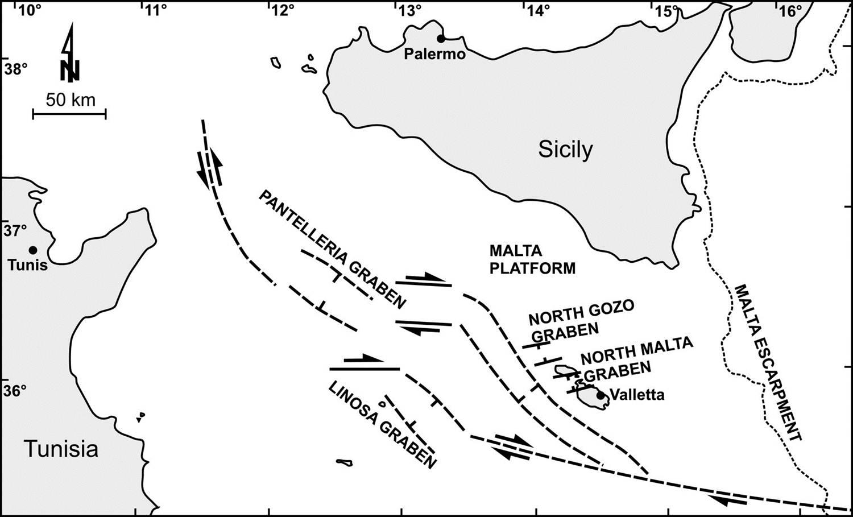 Malta Graben Linosa Graben Amp Pantelleria Graben