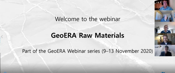 Did you know about the Raw Materials part of the GeoERA Webinar in November?
