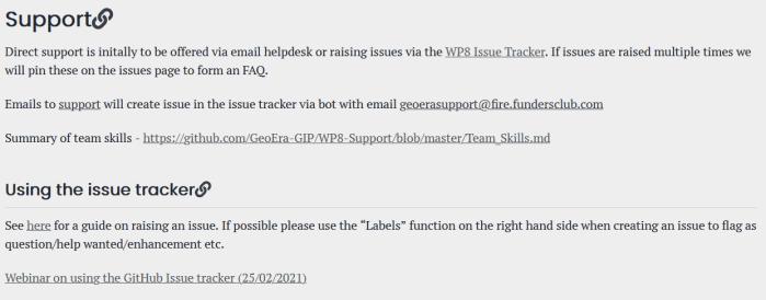 GeoERA Information Platform Support page_alt