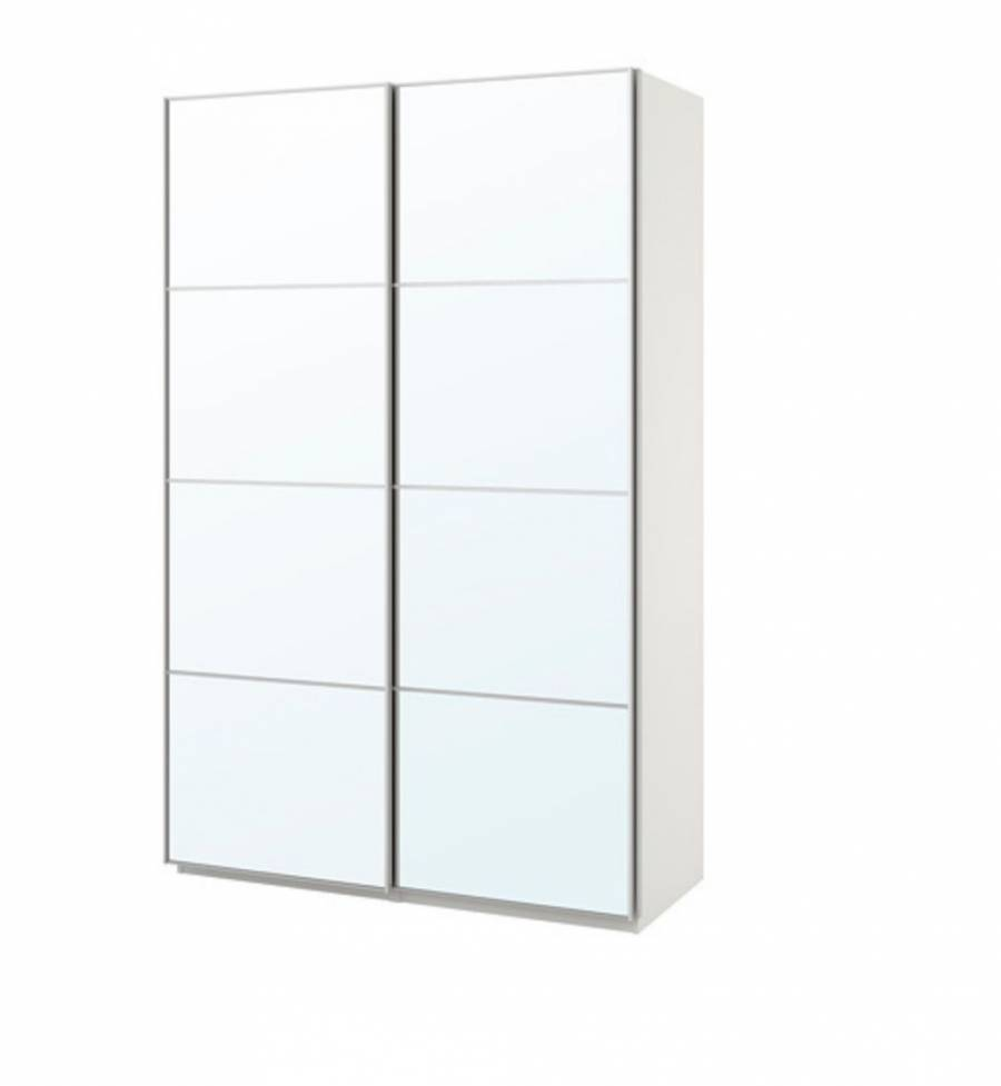 Guardaroba Pax Ballstad Ikea.Ikea Wardrobe White With Mirror