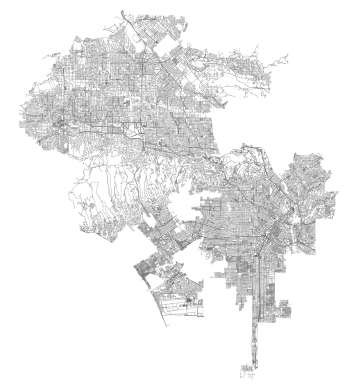 OSMnx: Los Angeles street network in Python from OpenStreetMap