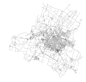 OSMnx: Modena Italy networkx street network in Python from OpenStreetMap