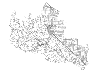OSMnx: Silicon Valley street network in Python from OpenStreetMap