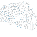 Piedmont, California street network created in Python with OSMnx, networkx, matplotlib