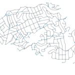 Piedmont, California street network created in Python with OSMnx, networkx, matplotlib