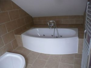 bathroom installed and tiled in dorset