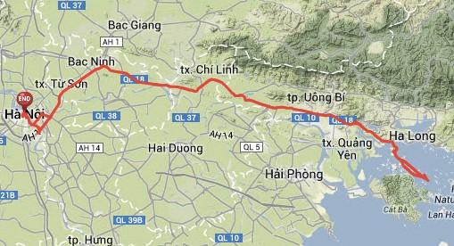 Hanoi to Halong bay