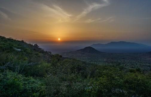 Nagala mountain sunset.