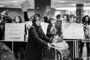 Land of Immigrants, Dulles Airport Protest 2017 [United/Divided Winner 2017]