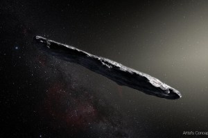 Cigar-shaped spaceship Oumuamua