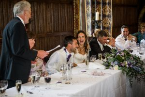 The Grooms' father says 'just' a few words