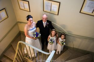 The Bride, her Father and the Bridesmaids