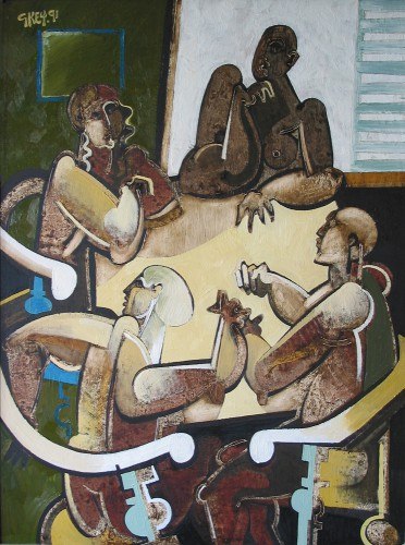table conversation, oil 1991