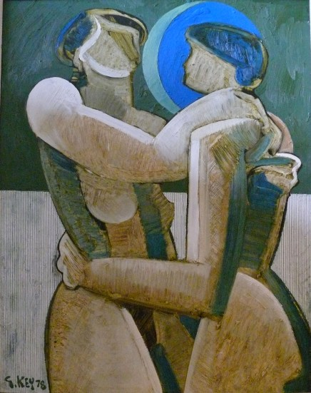 lovers, oil 1978