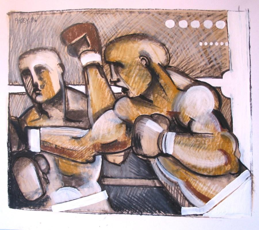 boxers II, mixed media 1986