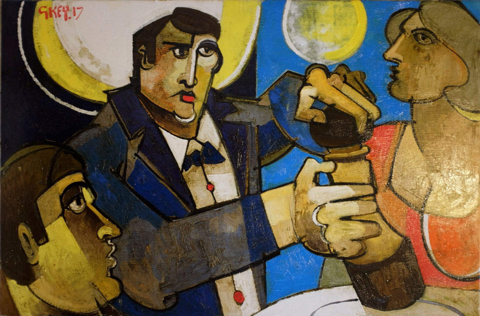 'pepper, Madame?', oil 2017