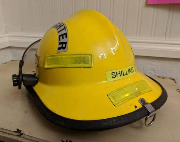 Yellow Fire Department Helmet