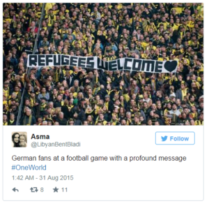 Refugees welcome in german football