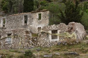 Deserted village in Lefkada following Earthquakes 1