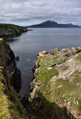 A rugged shoreline
