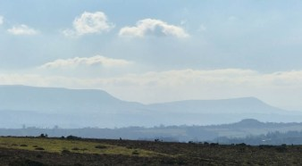 The Black Mountains are blue