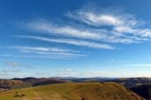 Stripey sky over Bodbury Ring