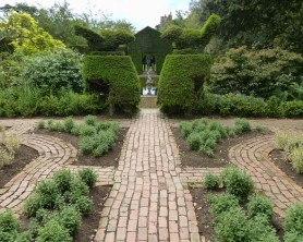 Paving and topiary