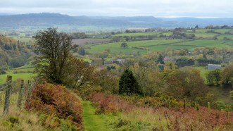 Looking back to Wenlock Edge