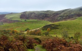 The lower slopes of Caradoc...