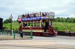 The tram departs