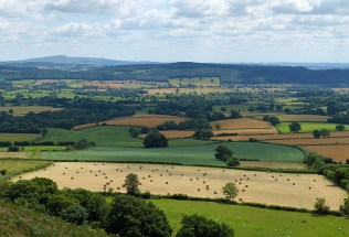 Across Apedale to Wenlock Edge