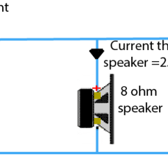 8 Ohm Wiring Diagram Defrost Clock Connecting Multiple Speakers To Your Hifi Amplifier 2 Ohms Speaker In Parallel