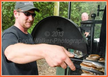 Turning sausages