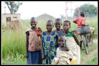 Kids living in the Internally Displaced Peoples Camp.