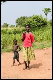 Family members in Ludok Village